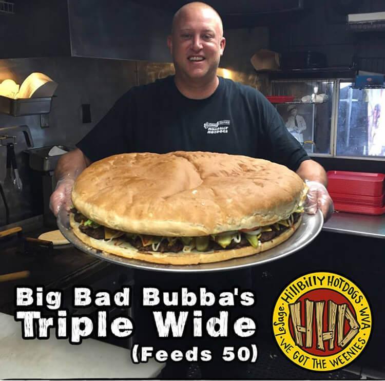 гигантский сэндвич