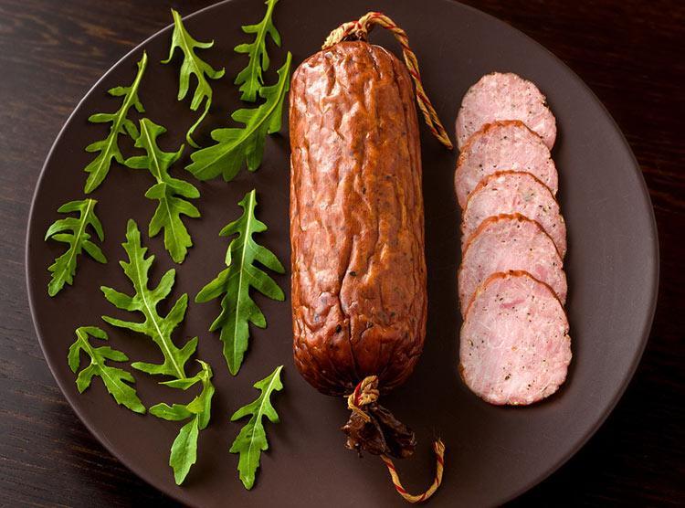 Немецкая ветчинная колбаса из свинины