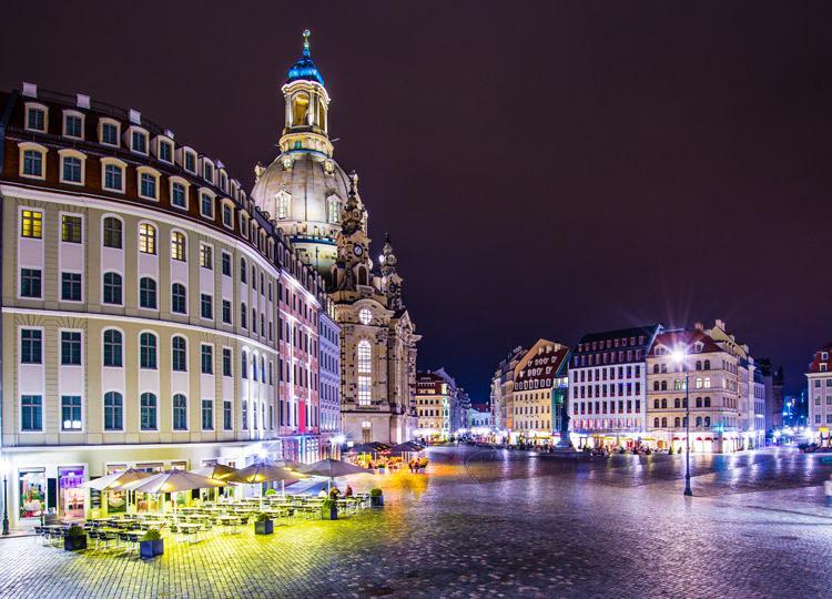 Рестораны на улицах Дрездена