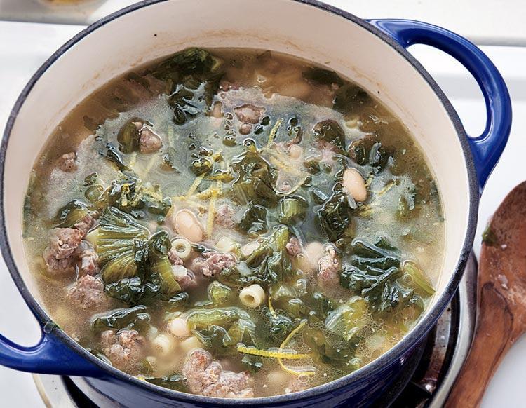 Итальянский суп с овощами