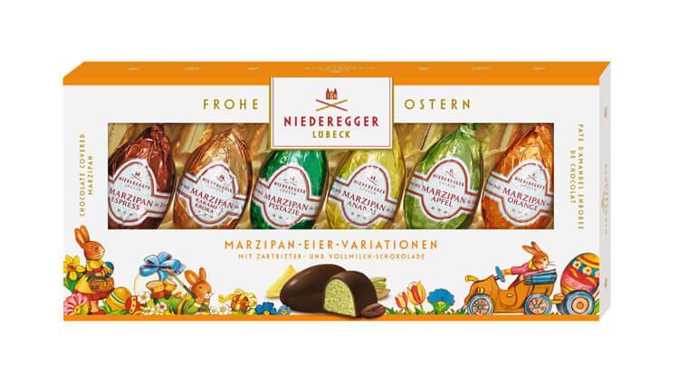 Яйца с любекерским марципаном